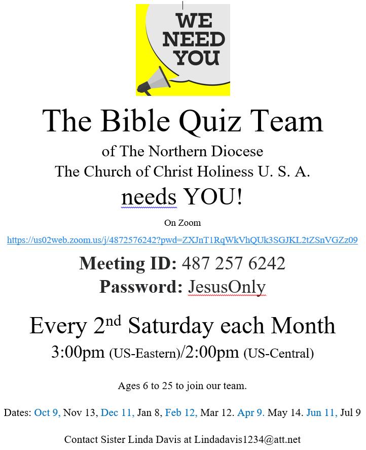 Bible Quiz Study